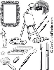 Fine Art Set - collection of fine art engravings made in the...