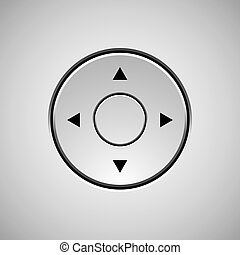 White Abstract Joystick Button Template - White abstract...