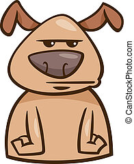 mood bored dog cartoon illustration - Cartoon Illustration...