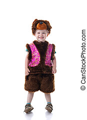 Image of happy boy dressed in Bear suit - Image of happy...