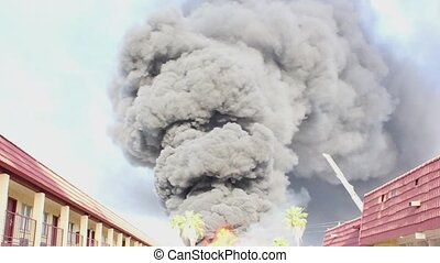 house Fire-Flames and heavy Smoke.In Phoenix ,United States