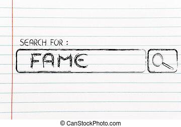 search engine bar, seeking fame - seeking fame, design of...