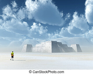 Fortress - Computer generated 3D illustration with a...