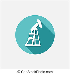 Oil, Industry button,vector