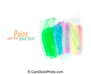watercolor colors spot texture isolated on a white background