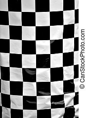 Checkered Pattern - A black and white checkered flag texture...