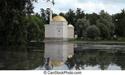mosque with a golden dome - Turkish bath in the Catherine...
