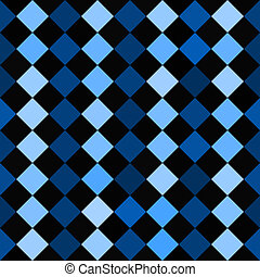 Checkered Pattern - A blue and black checkered squares...