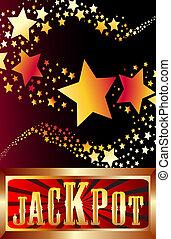 jackpot shooting stars vector illus