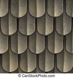 Seamless Roof Shingles - A texture that looks like scales of...