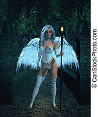 Angel Standing - Angel standing outside