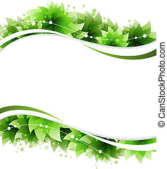 Abstract green flowers - Green flowers on a white...