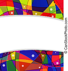 Stained-glass window frame - Abstract funny background with...