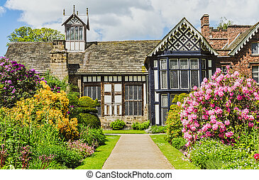 Rufford Old Hall and garden - Rufford Old Hall in Rufford...