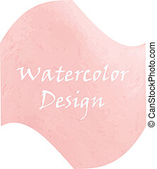Watercolor peach color