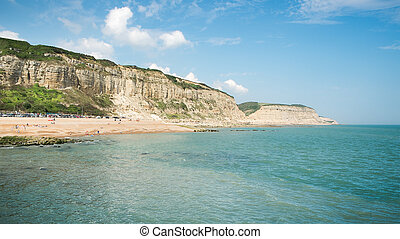 Beach of Hastings England - An image of the beach of...