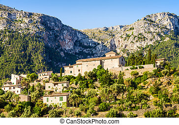 View of Deia on Mallorca - A view of Deia, a small coastal...