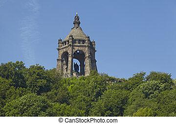 Porta Westfalica - Kaiser Wilhelm Memorial - The...