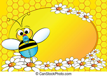 Bees Family: Baby boy - Kids Illustration