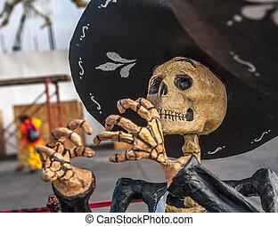 Dead mariachi, Dia de los muertos, Day of the dead in Mexico