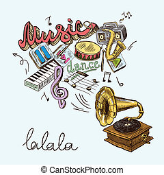 gramophone composition