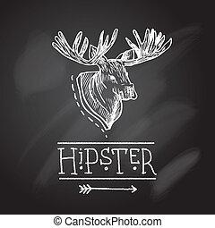 Sketch antlers