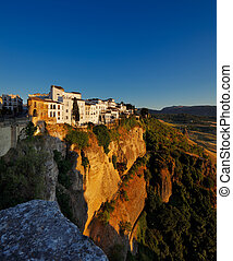 Ronda town in Andalusia, Spain - Magnificent view from the...