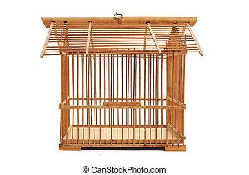 cage d'oiseaux, bambou