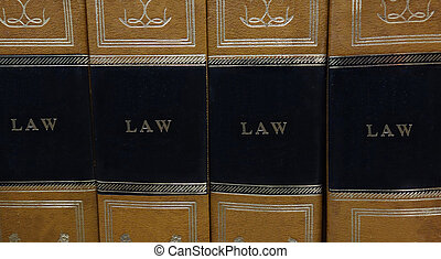 Law books - Law or legal books on a shelf...