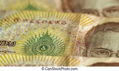 Large bills - money the Kingdom of Thailand - Video...