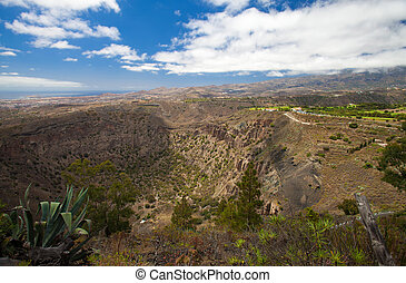 Aerial view from Pico de Bandama, Gran Canaria