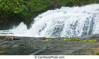 Waterfalls near Chiang Rai, Thailand Shoot with panning -...