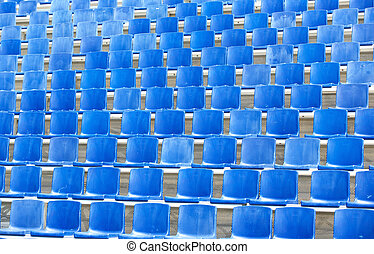Empty seats - Empty blue seats at a sporting arena