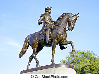 George Washington Statue, Boston - George Washington Statue...