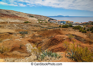 Desert Landscape on Maderia - Dry and hot desert landscape...