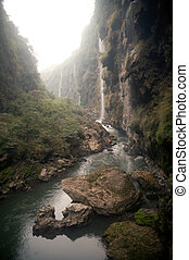 Malinghe waterfall in Xingyi city,Guizhou,China.