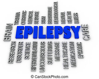 3d imagen, Epilepsy symbol. Neurological disorder icon...