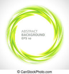 Abstract green swirl circle bright background