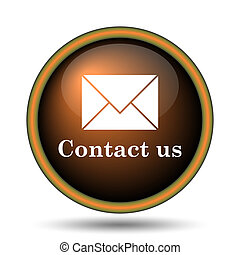 Contact us icon Internet button on white background