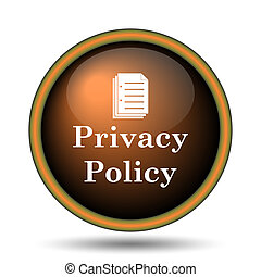 Privacy policy icon Internet button on white background