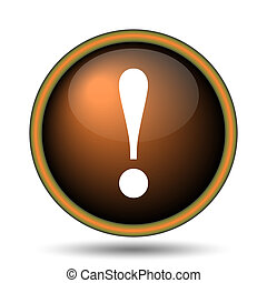 Attention icon Internet button on white background