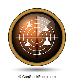 Radar icon Internet button on white background