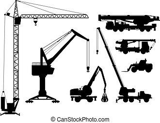 Building technique silhouettes
