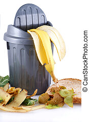 Seperate your garbage! - Garbage can with green waste;...