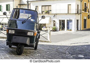 italien, tricycle