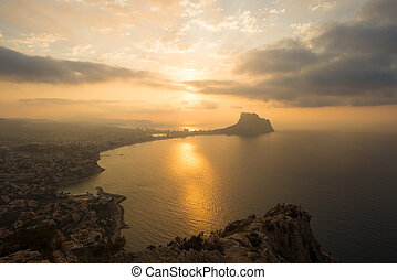 Costa Blanca landscape - A sunrise over Costa Blanca beach...