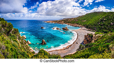 Beautiful ocean coastline in Costa Paradiso, Sardinia, Italy