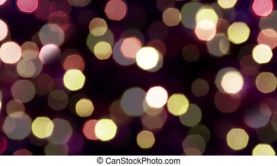 Sparkling lights on a dark background