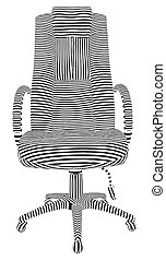 Office Armchair Stripes
