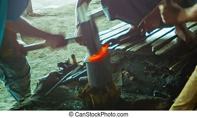 Blacksmiths at work in the forge - Video 1080p - Blacksmiths...